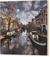 Royal Dutch Canals Wood Print