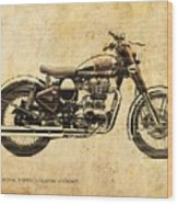Royal Enfield Classic Chrome 2016, Poster For Men Cave Wood Print