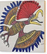 Royal Flycatcher- Mayan 2 Wood Print