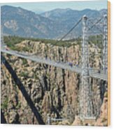 Royal Gorge Bridge In Summer Wood Print