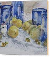 Royal Lemons Wood Print