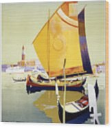 Royal Mail Atlantis Autumn Cruises Vintage Travel Poster Wood Print