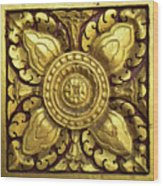 Royal Palace Gilded Door 04 Wood Print