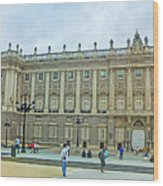 Royal Palace In Madrid In A Beautiful Summer Day, Spain Wood Print