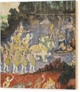 Royal Palace Ramayana 08 Wood Print