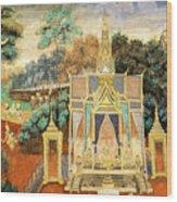 Royal Palace Ramayana 13 Wood Print