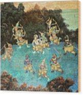 Royal Palace Ramayana 16 Wood Print
