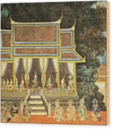 Royal Palace Ramayana 18 Wood Print