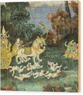Royal Palace Ramayana 19 Wood Print