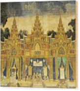 Royal Palace Ramayana 20 Wood Print