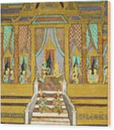 Royal Palace Ramayana 21 Wood Print