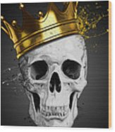 Royal Skull Wood Print