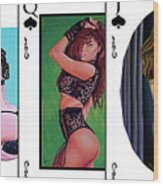 Royal Straight Flush Spades 1 Wood Print