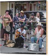 Royal Street Musicians Wood Print