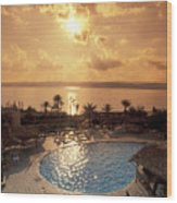Royal Suite In The Dead Sea Spa Hotel Wood Print by Richard Nowitz