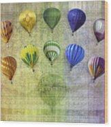 Roygbiv Balloons Wood Print