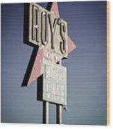 Roys Motel And Cafe Wood Print