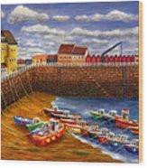 Rozel Harbour - Jersey Wood Print