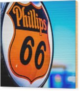 Rt. 66 Gas Pump Wood Print