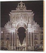 Rua Agusta Arch Lisbon Textured II Wood Print