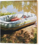 Rubber Boat 1 Wood Print