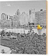 Rubber Duck - Pittsburgh, Pennsylvania Wood Print