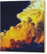 Rubber Ducky Elephant Clouds  Wood Print