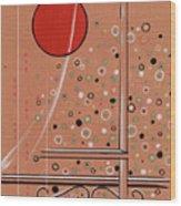 Rubby Moon Wood Print