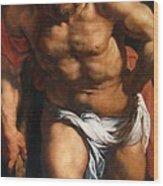 Rubens Descent From The Cross Detail Outside Left Peter Paul Rubens Wood Print