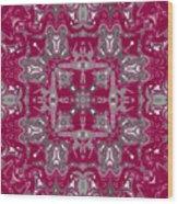 Rubies And Silver Kaleidoscope Wood Print