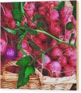 Rubies Organic Wood Print