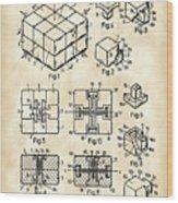 Rubik's Cube Patent 1983 - Vintage Wood Print