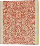 Rubino Red Floral Wood Print