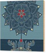 Rubino Zen Flower Wood Print