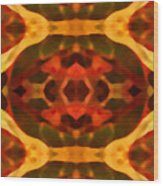 Ruby Crystal Pattern Wood Print