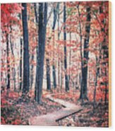 Ruby Forest Wood Print