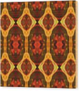 Ruby Glow Pattern Wood Print