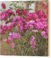 Ruby Like Flora Wood Print