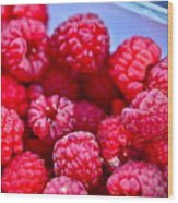 Ruby Raspberries Wood Print