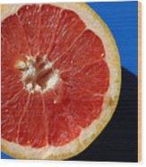 Ruby Red Grapefruit Wood Print