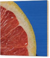 Ruby Red Grapefruit Quarter Wood Print