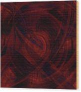Ruby Red Veil Wood Print