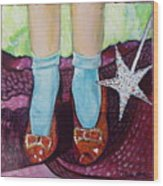 Ruby Slippers Wood Print