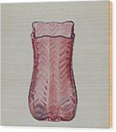 Ruby Vase Wood Print