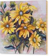 Rudbeckia  Prairie Sun Wood Print