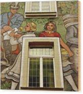 Rudesheim Mural Wood Print
