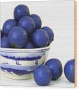 Rudraksha Tree Seeds In Vintage Bowl Wood Print