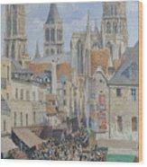 Rue De L'epicerie, Rouen Wood Print