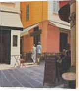 Rue En Nice Wood Print