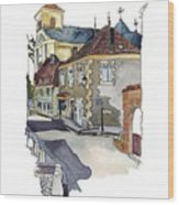 Rue Font St Jean, Ste Alvere, Dordogne Wood Print